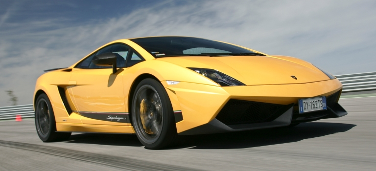 Gallardo LP 570-4 Superleggera yellow front side view