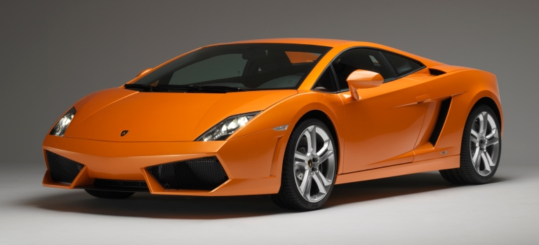 Lamborghini Gallardo LP 550-2 Coupe orange side view