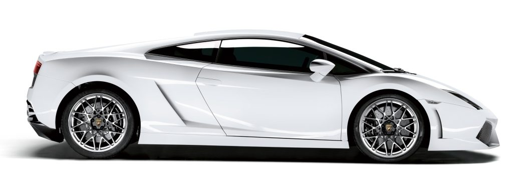Lamborghini Gallardo LP 560-4 white side view