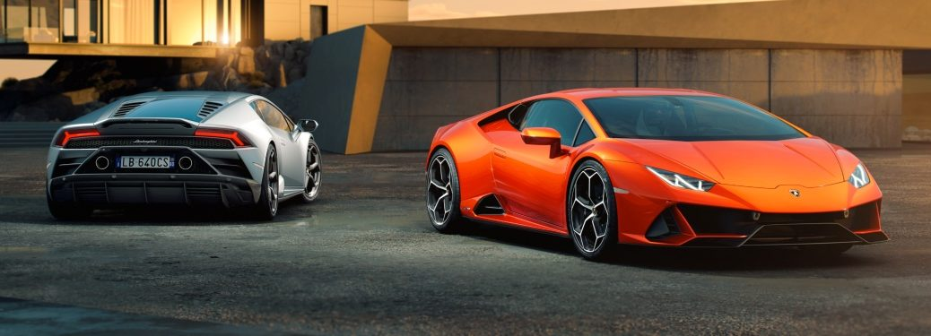 Lamborghini Huracan EVO orange and silver