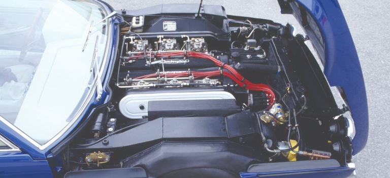 Lamborghini Espada under the hood V12 engine