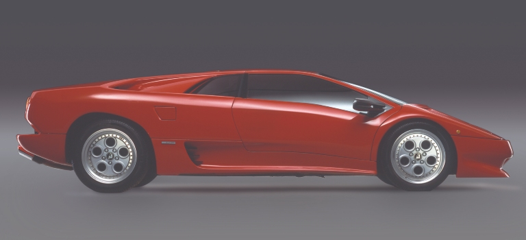 1990 Lamborghini Diablo red side view