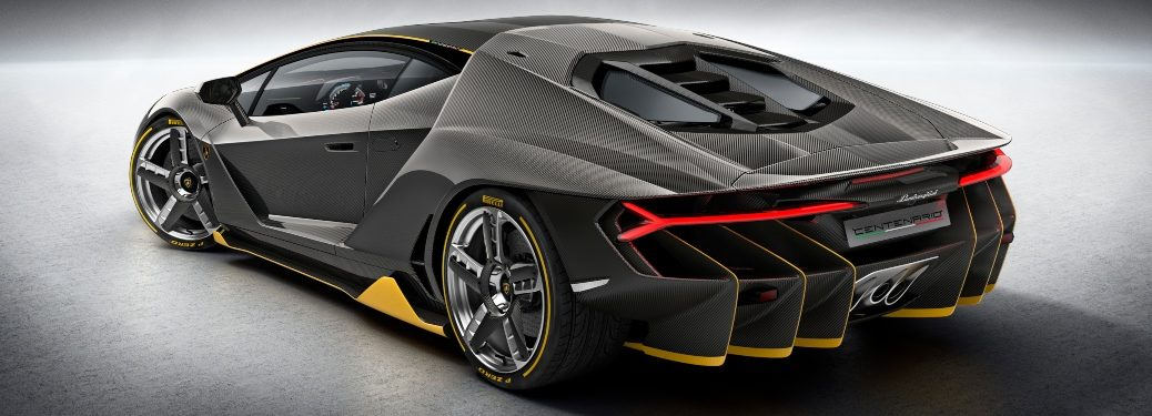 Lamborghini Centenario black and yellow black view