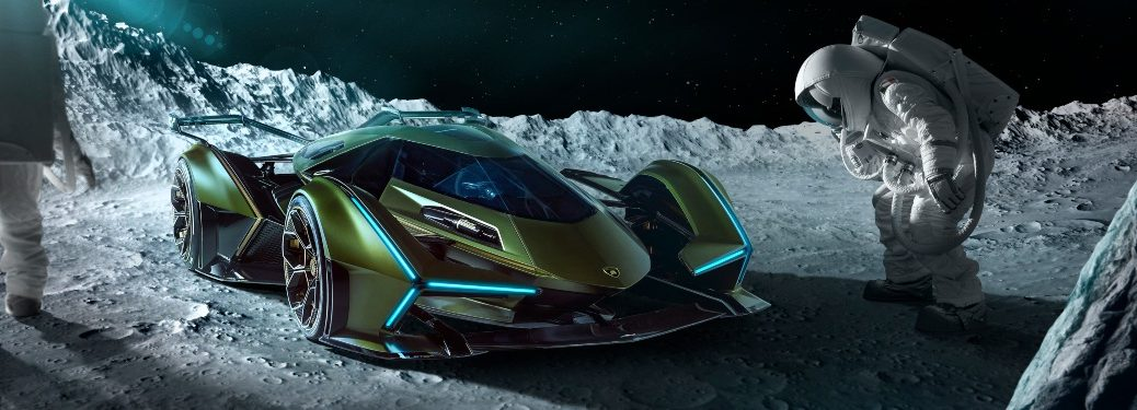 Lamborghini Lambo V12 Vision Gran Turismo on the moon