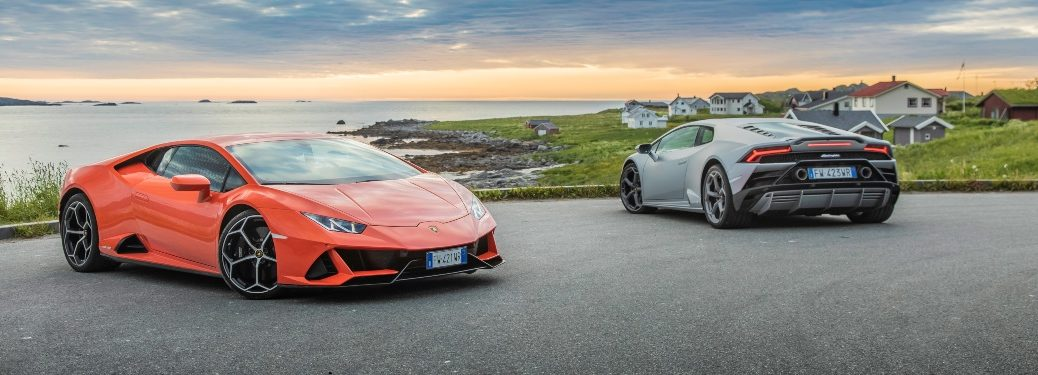 Lamborghini Huracan orange and gray