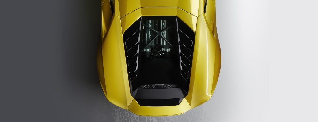Lamborghini Huracan yellow top view