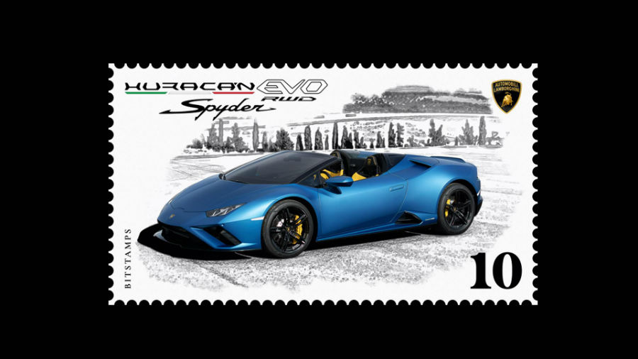 First Automobili Lamborghini Collection Digital Stamp from BITSTAMPS
