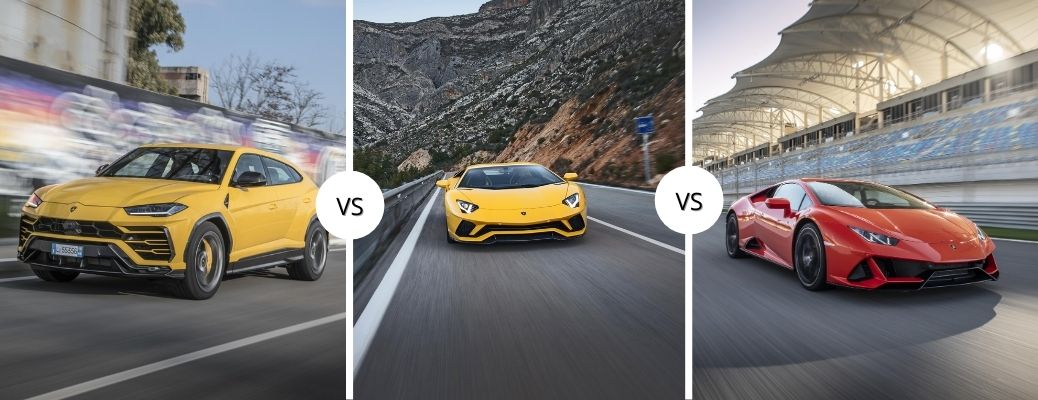 How do the Lamborghini models compare in a race?