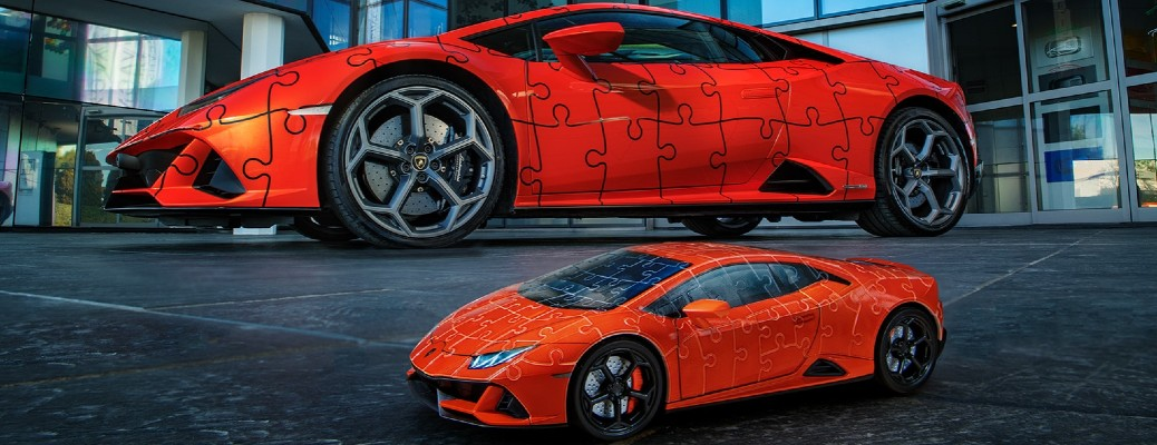 Recreate the Lamborghini Huracan EVO as a 3D Puzzle!
