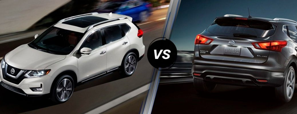 2019 Nissan Rogue and 2019 Nissan Rogue Sport in comparison image
