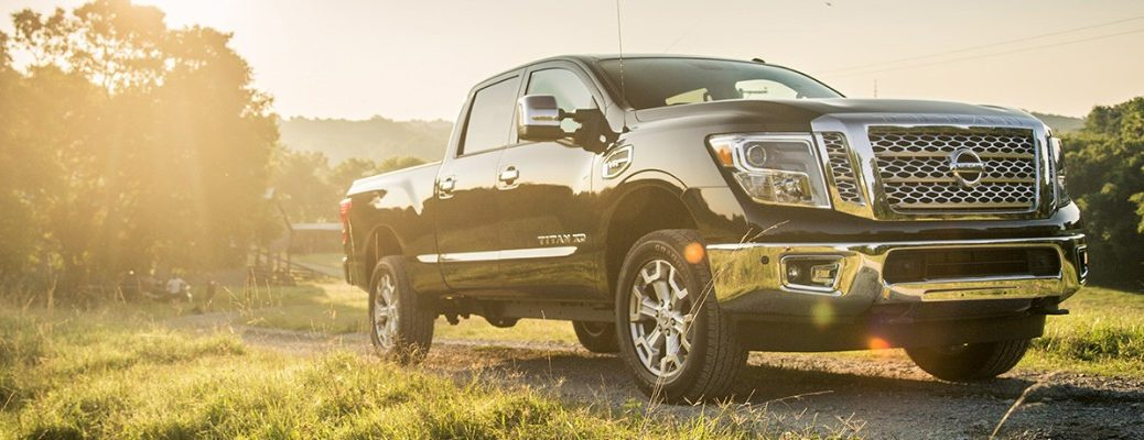 Front view of 2019 Nissan TITAN parked in field