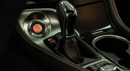 Gear shifter and Push Button Start function inside 2020 Nissan Maxima