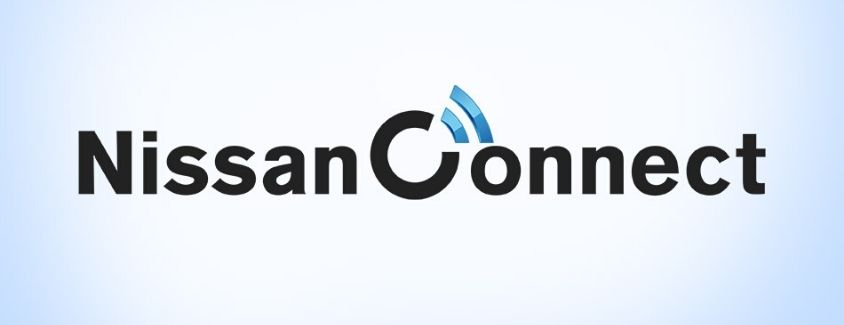 NissanConnect® banner with white and lighter blue background