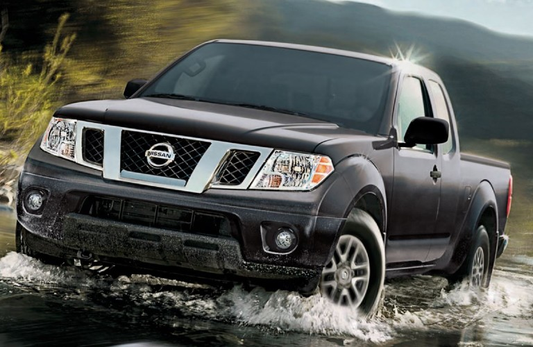 2020 Nissan Frontier driving through water