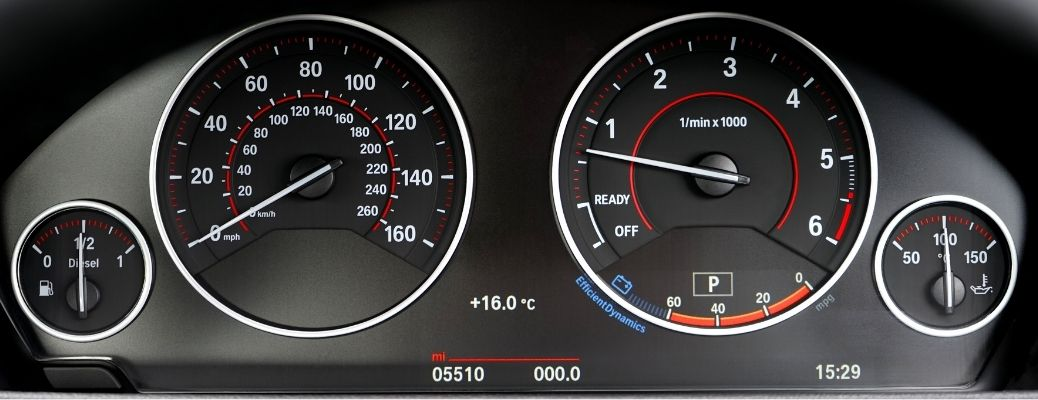 A close up photo of a dashboard on a vehicle