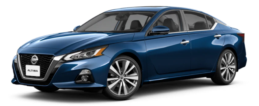The 2021 Nissan Altima in Deep Blue Pearl color