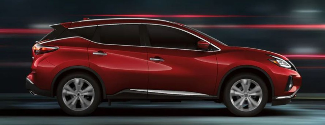 A red-colored 2021 Nissan Murano