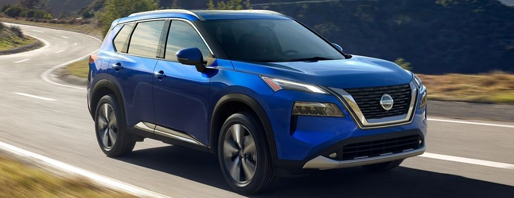 2021 Nissan Rogue travelling through road