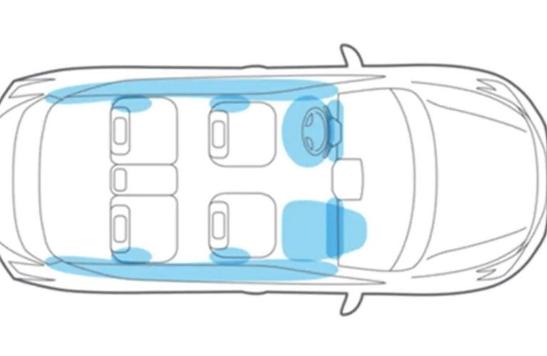 Image showing a graphical representation of the 10 airbag system in the Nissan Murano