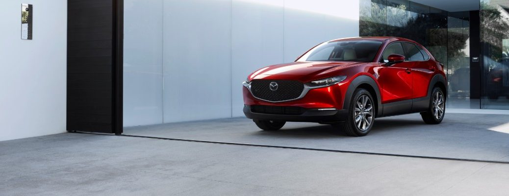 Red 2020 Mazda CX-30 parked in driveway