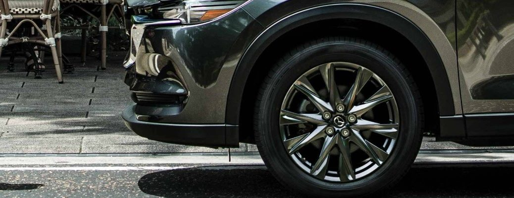 Isolated view of 2019 Mazda CX-5 tire