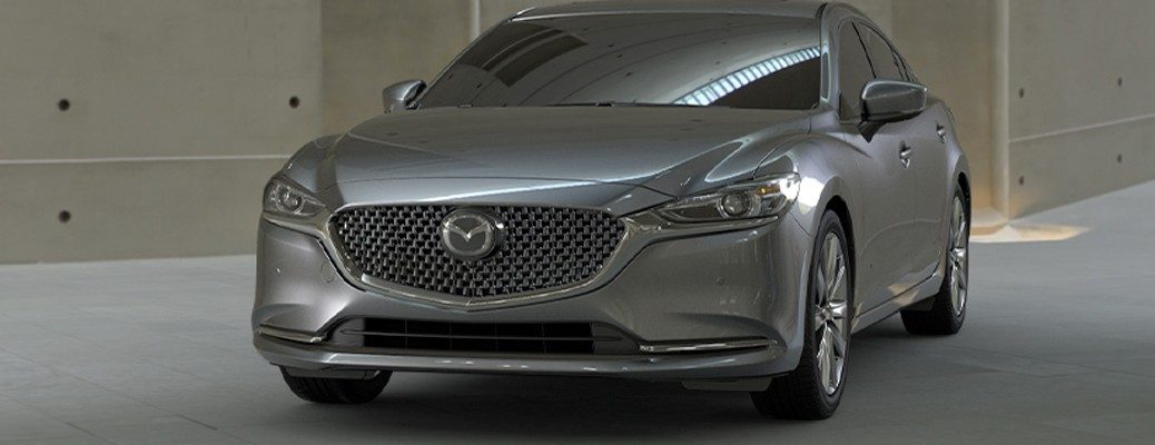 Front view of silver 2020 Mazda6