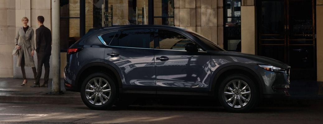 Exterior view of a gray 2020 Mazda CX-5