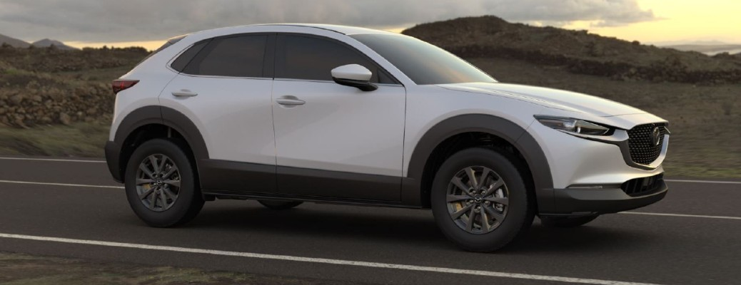 2021 Mazda CX-30 driving down road