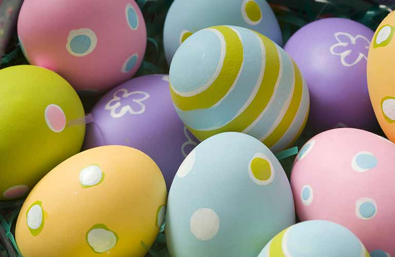 Image of a group of Easter eggs