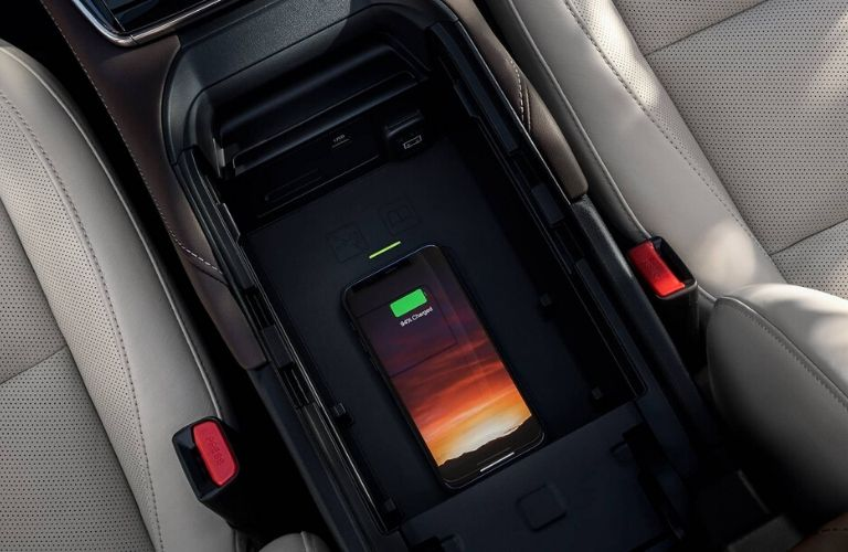 Image of the wireless phone charger inside the 2020 Mazda CX-30