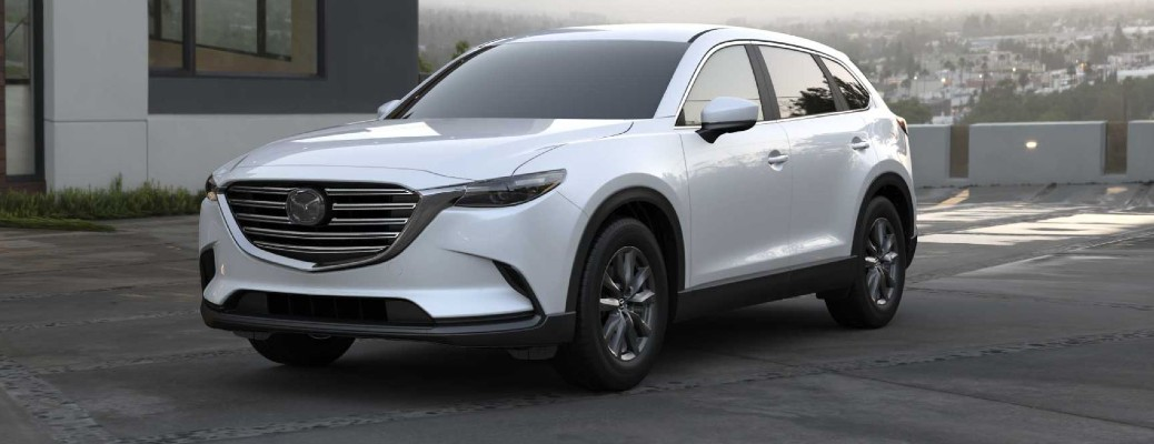 White 2021 Mazda Cx-9 parked outside