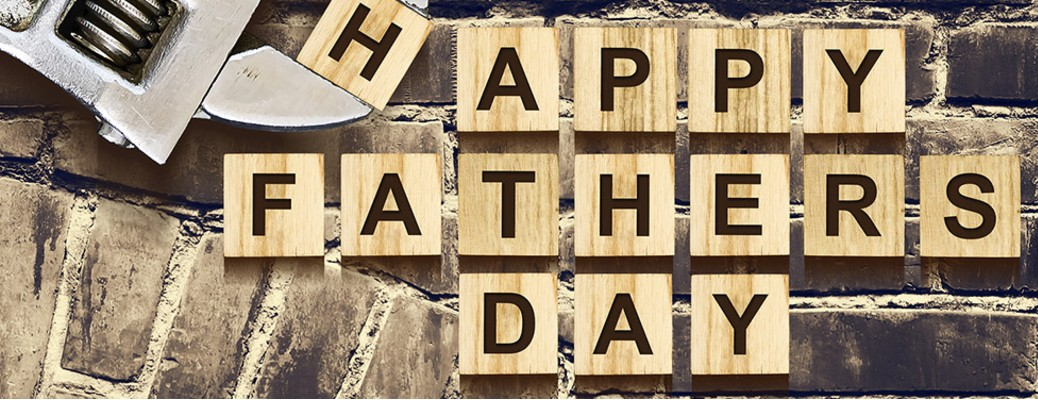 Happy Father's Day written in tiny blocks