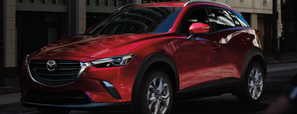 2021 Mazda CX-3 in front of a building