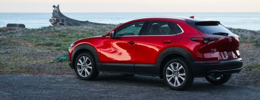 2021 Mazda CX-30 2.5 S parked by water