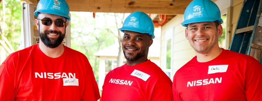 Nissan workers building a home for Habitat for Humanity