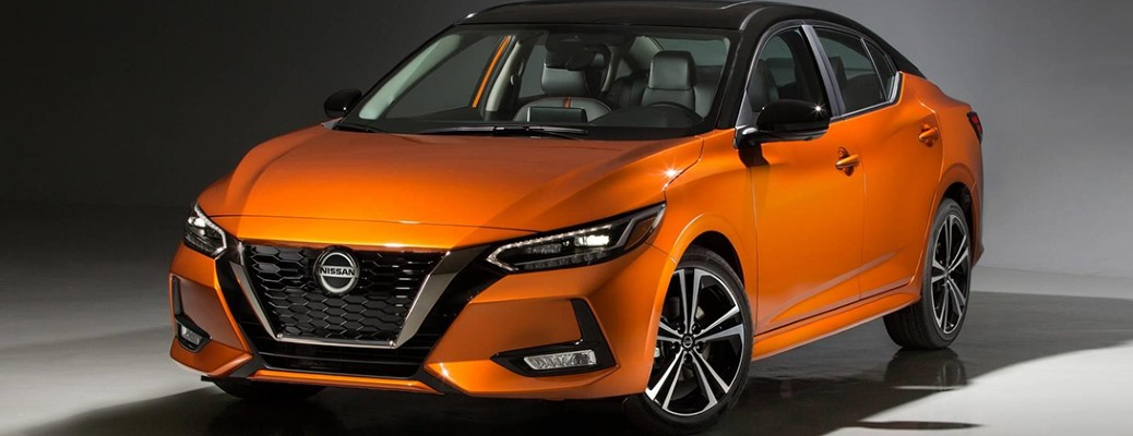 2020 Nissan Sentra parked in an indoor structure