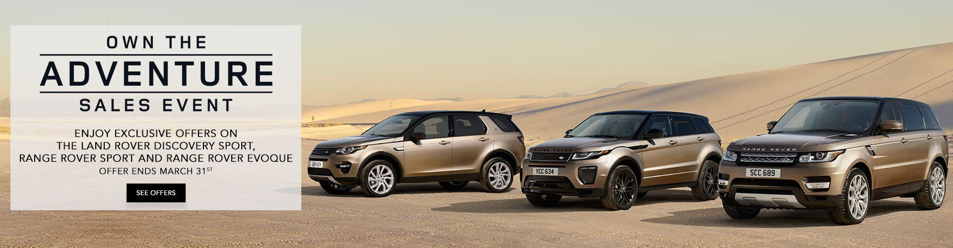 Land Rover Spring Sales Event