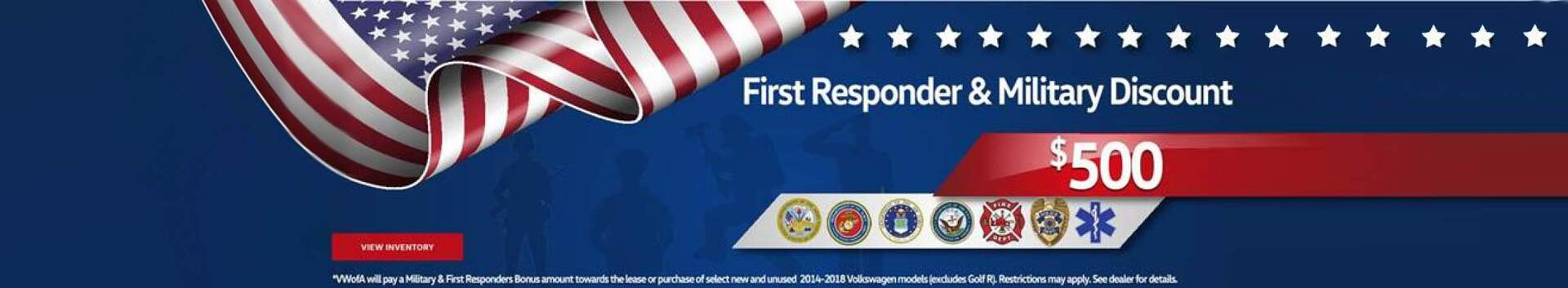 Military - First Responder Discount