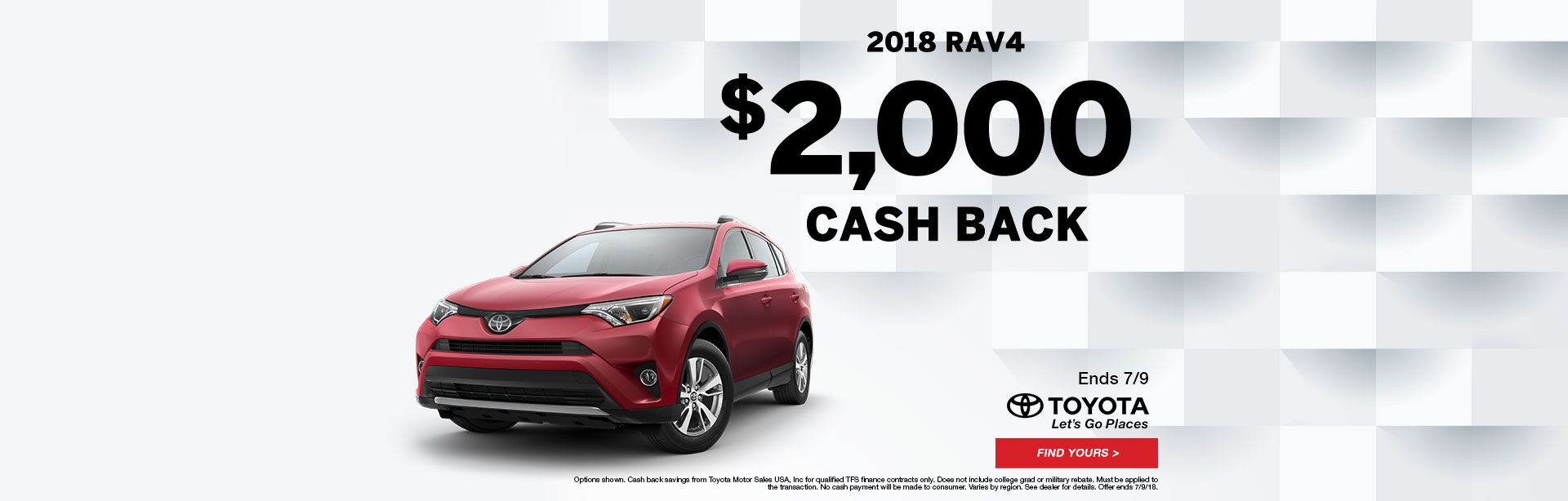 Rav4 Cash Back