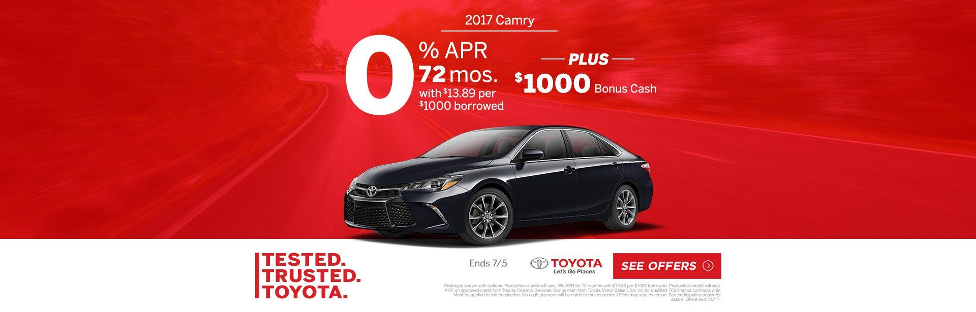 Test Trusted Toyota Camry 2017