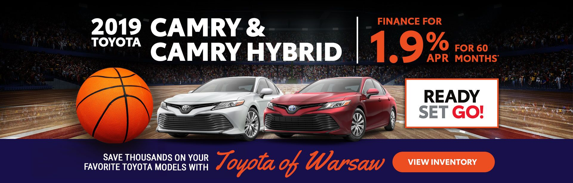 2019 Camry/Camry Hybrid: 1.9% APR for 60 months