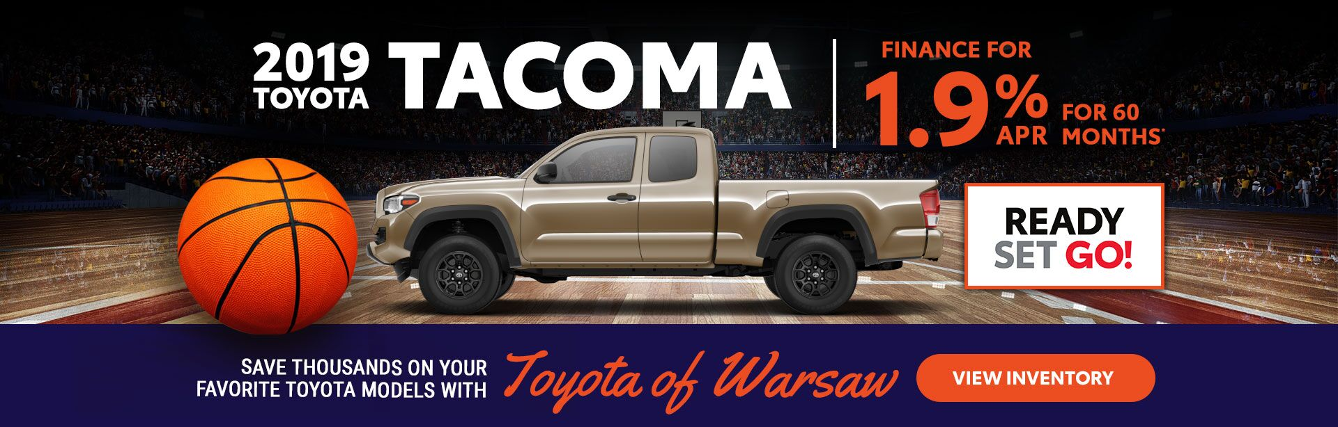 2019 Tacoma: 1.9% APR for 60 months