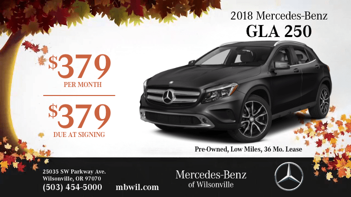 2018 Mercedes-Benz GLA 250 4MATIC® SUV