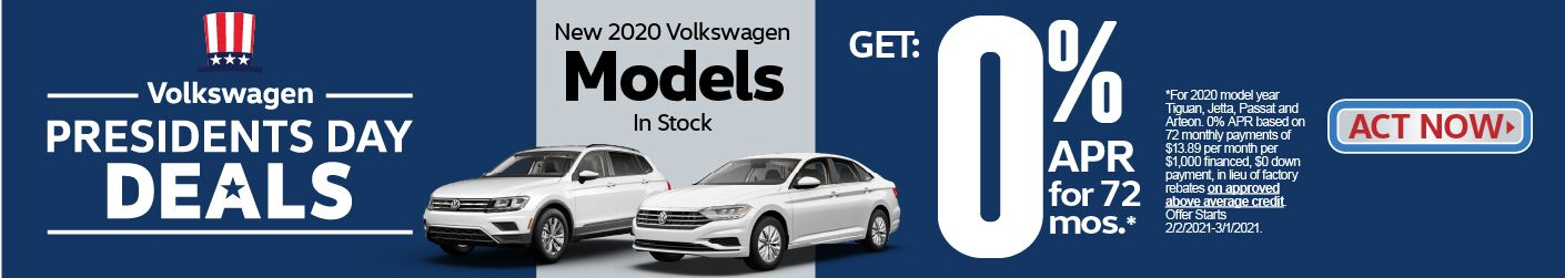 New 2020 Volkswagen Models - 0% APR for 72 Months