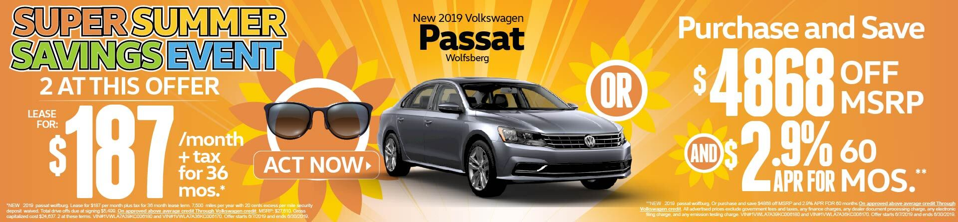 Summer Savings Event Passat