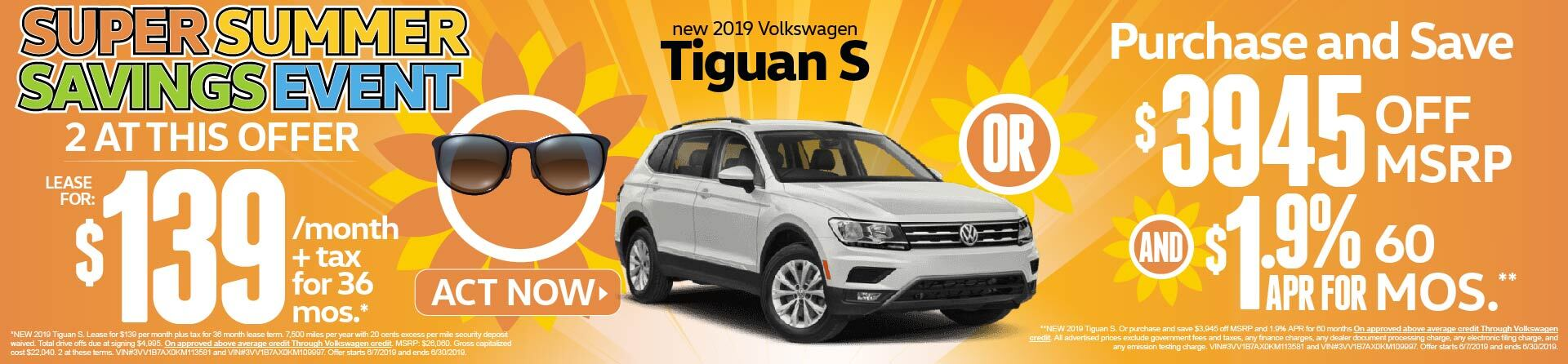 Summer Savings Event Tiguan