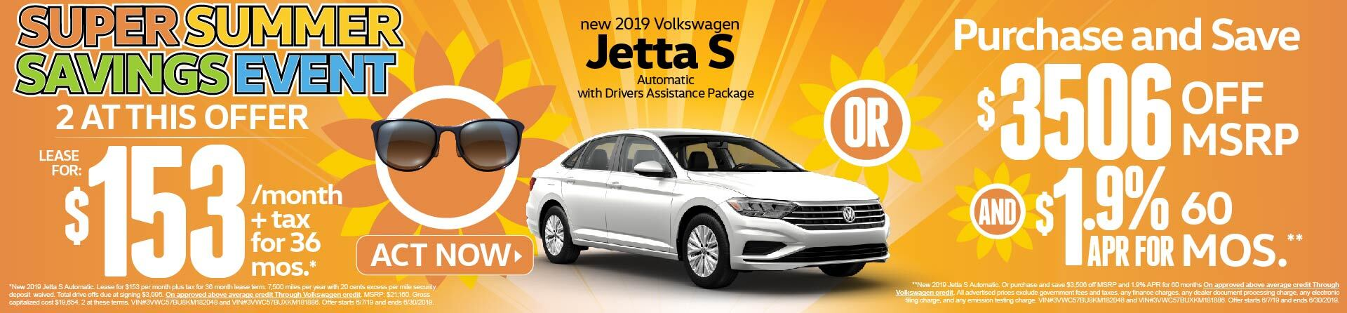 Summer Savings Event Jetta