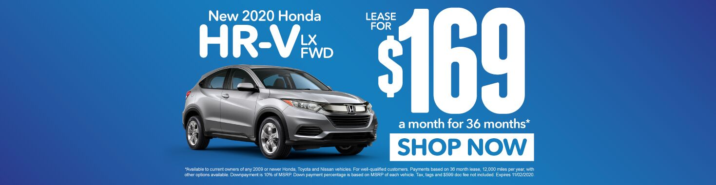New 2020 Honda HR-V | Lease for $169 a month | Click to Shop Now