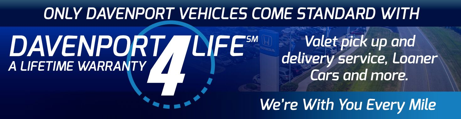 Davenport 4 Life - Valet Pick Up and Delivery Service, Loaner Cars, and more. We're With You Every Mile.
