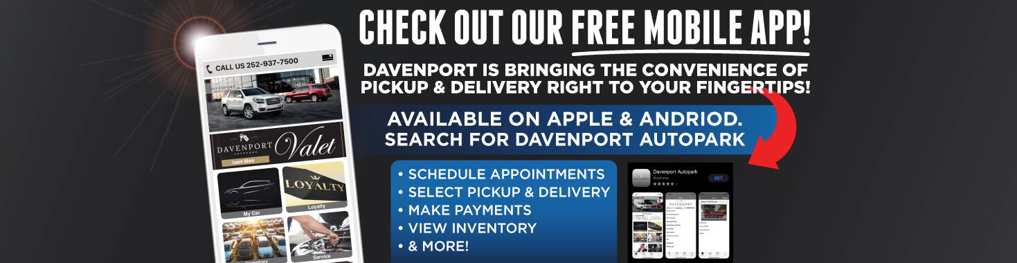 Check Out Our Free Mobile App! Available on Apple & Android. Search for Davenport Autopark. Click to View Inventory